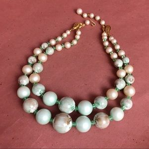 Vintage faux pearl necklace fashion jewelry